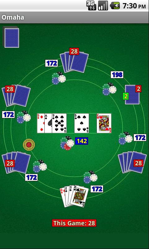 Omaha Poker - screenshot