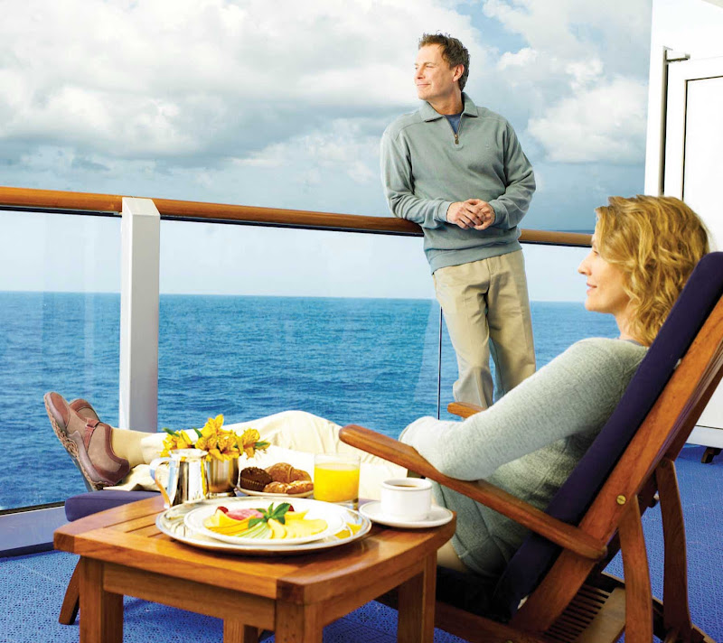 If you choose a Balcony Stateroom on your Princess cruise, you'll be able to take in the passing seascapes in comfort and in private.