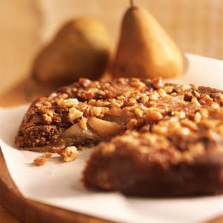 Pear-Walnut Upside-Down Cake.