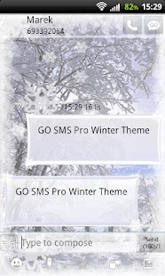 GO SMS Pro Winter Theme - screenshot thumbnail