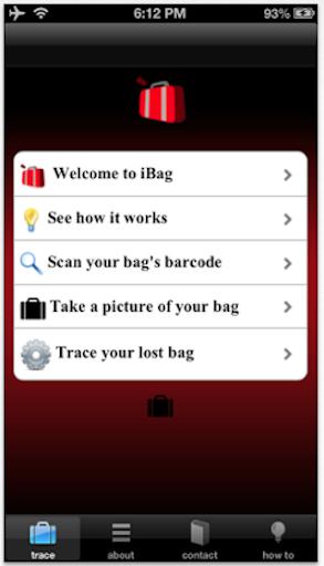 iBag Luggage Tracing App