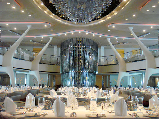 Inside the main dining room on Celebrity Equinox.