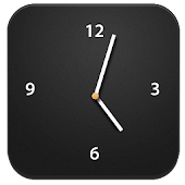 iOS Black HD Clock Widget