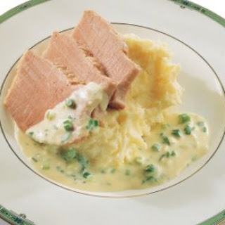 Corned Beef and Parsnip Mash with Mustard and Cider Sauce.
