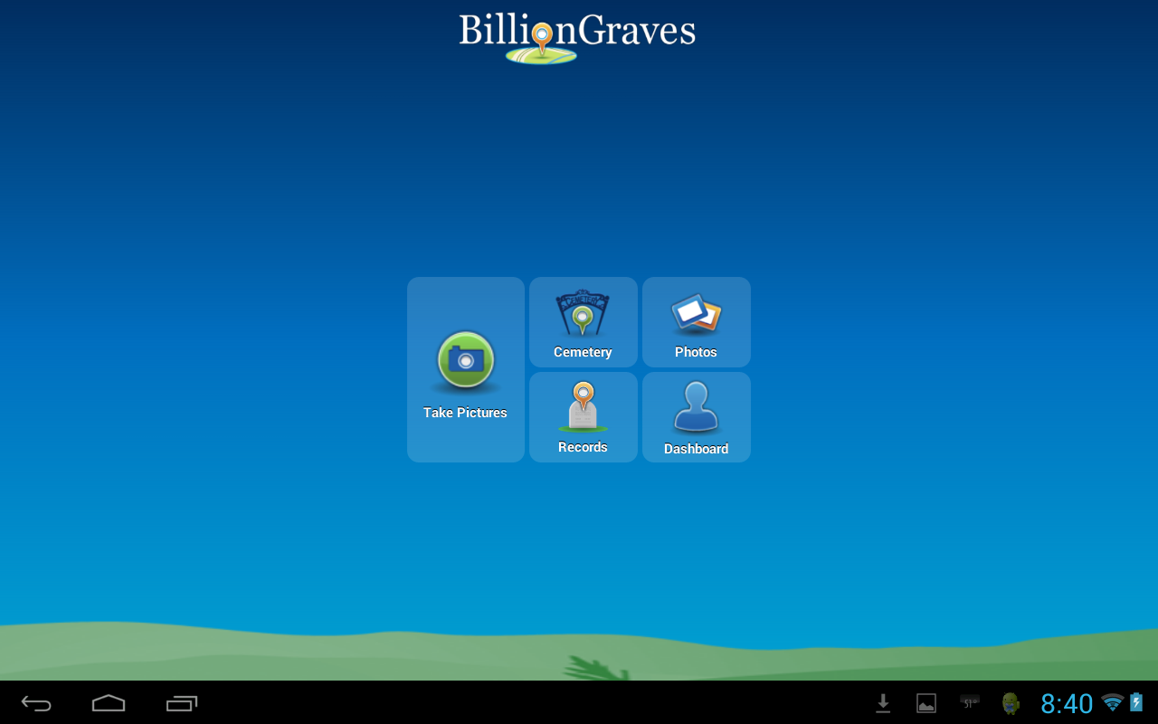 BillionGraves - screenshot