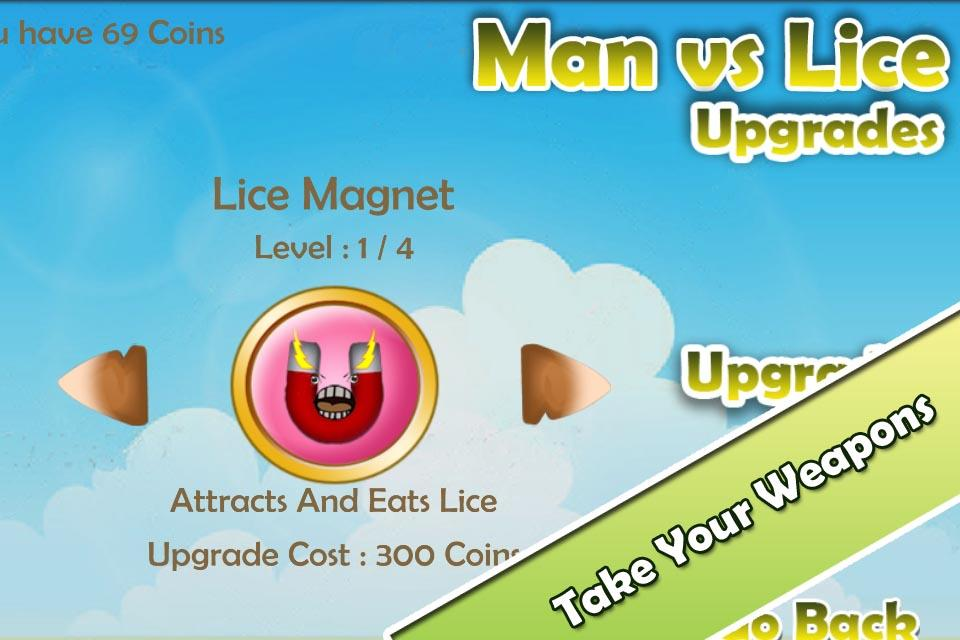 Funny Game - Man vs Lice FREE- screenshot