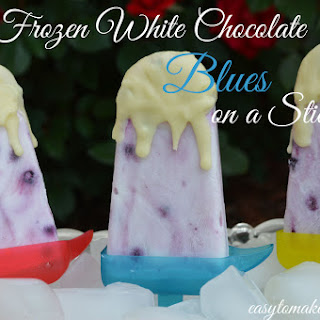 Frozen White Chocolate Blues on a Stick.
