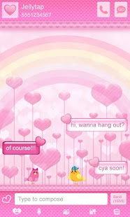 ♥ Cute Birds Love Theme SMS  ♥- screenshot thumbnail