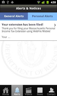 Massachusetts WebFile Mobile - screenshot thumbnail