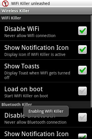 Wireless Killer- screenshot