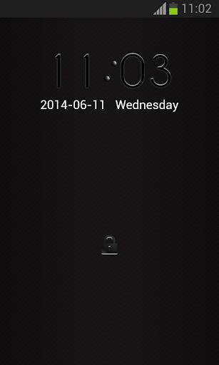 Lock Screen Black