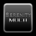 Serenity Launcher Theme White logo