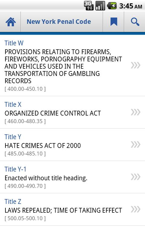 New York Penal Code - screenshot