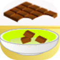 Cake flavored with chocolate icon
