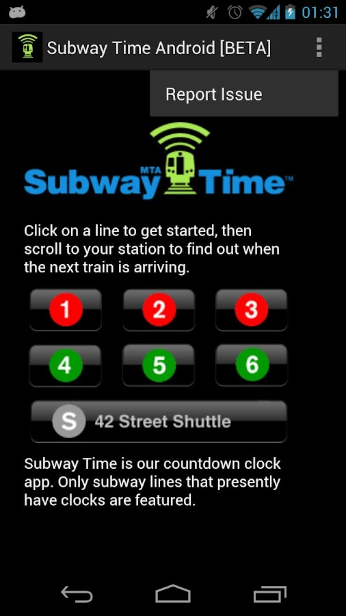 NYC Subway Times [MTA/BETA] - screenshot