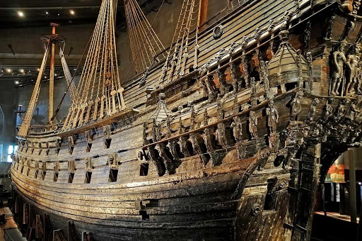 Vasa-Museum-Stockholm-Sweden - The Vasa, a 17th century Swedish warship at the Vasa Museum in Stockholm, Sweden.