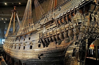 The Vasa, a 17th century Swedish warship at the Vasa Museum in Stockholm, Sweden.