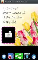 Screenshot of Postales de Amor. Foto Selfie