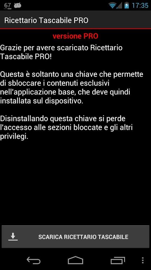 Ricettario Tascabile PRO- screenshot