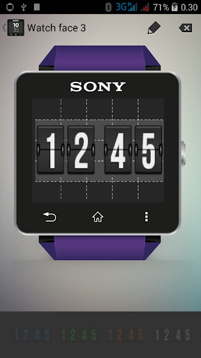 Sony SmartWatch 2 Flip Face