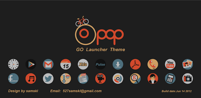Pop GO LauncherEX Theme v1.0