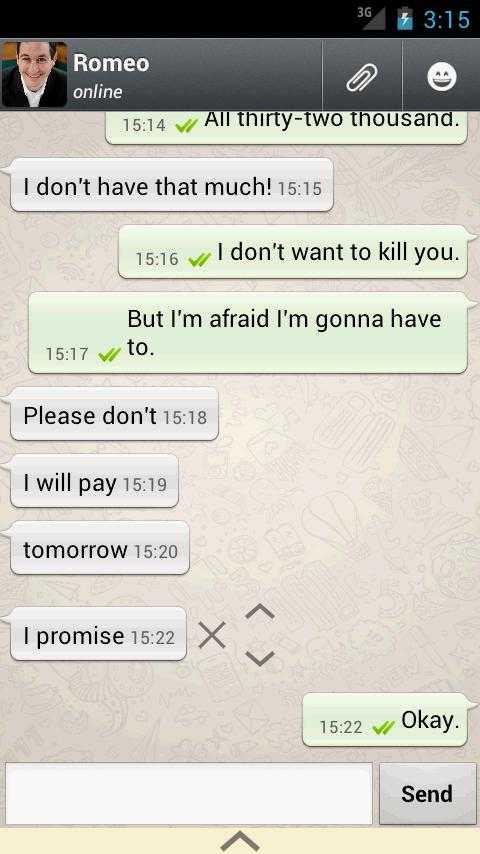 Whatsaid - Whatsapp Prank - screenshot