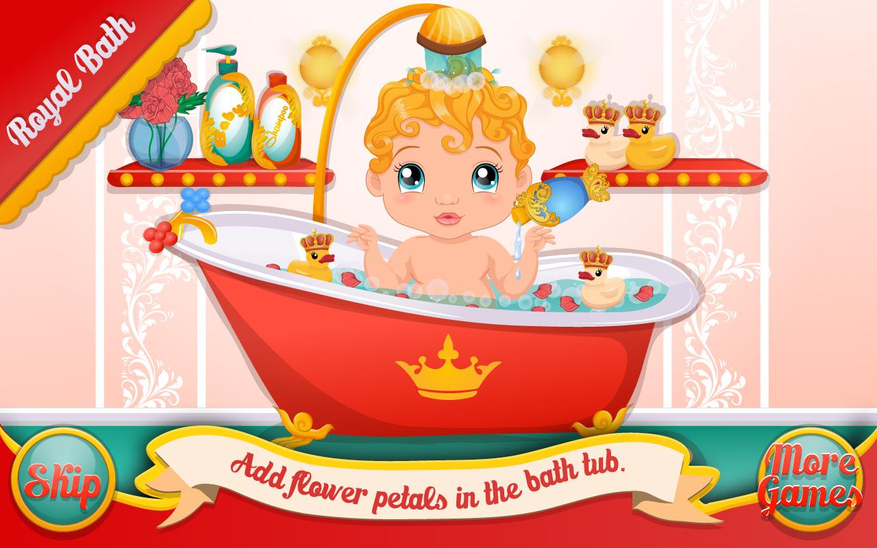 Royal Baby Shower:Bathing Game - screenshot