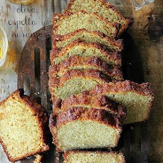Olive Oil, Spelt and Orange Loaf Cake.