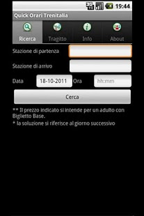 Quick Orari Trenitalia - screenshot thumbnail