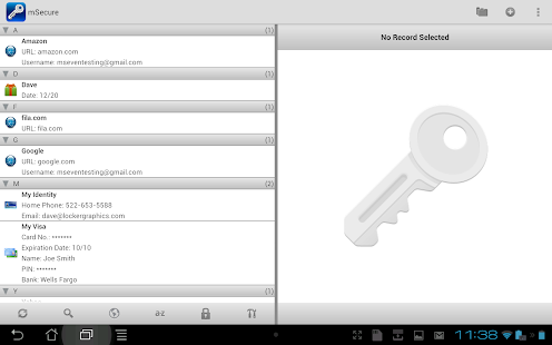 mSecure - Password Manager - screenshot thumbnail