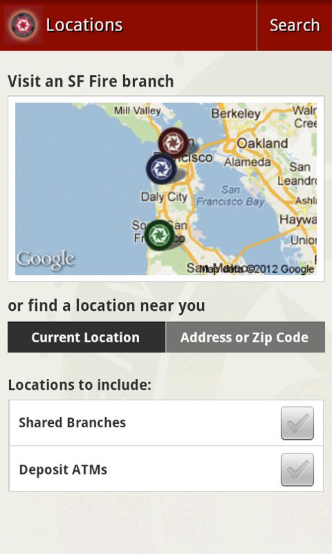 SF Fire CU Mobile Banking - screenshot