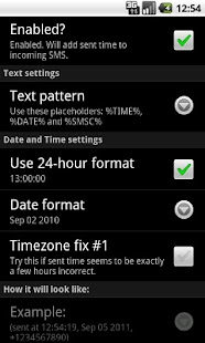 SMS Sent Time - screenshot thumbnail
