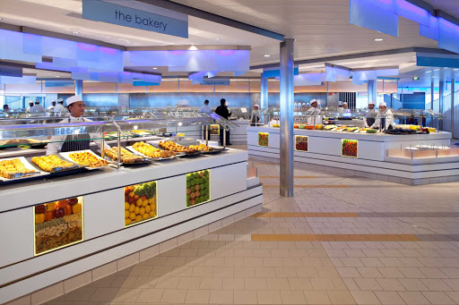 Celebrity_Eclipse_OceanviewCafe2 - The Ocean View Cafe on Celebrity Eclipse prepares fresh-baked goods daily.