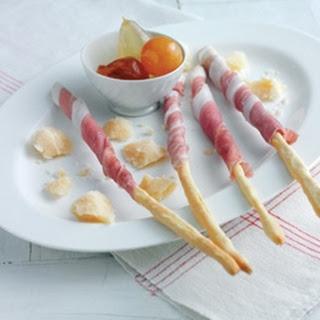 Breadsticks Wrapped In Prosciutto