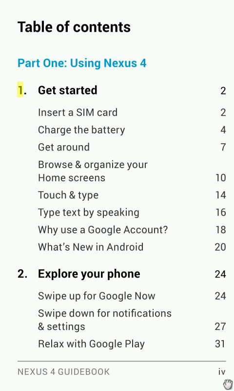 LG Nexus 4 Manual - screenshot