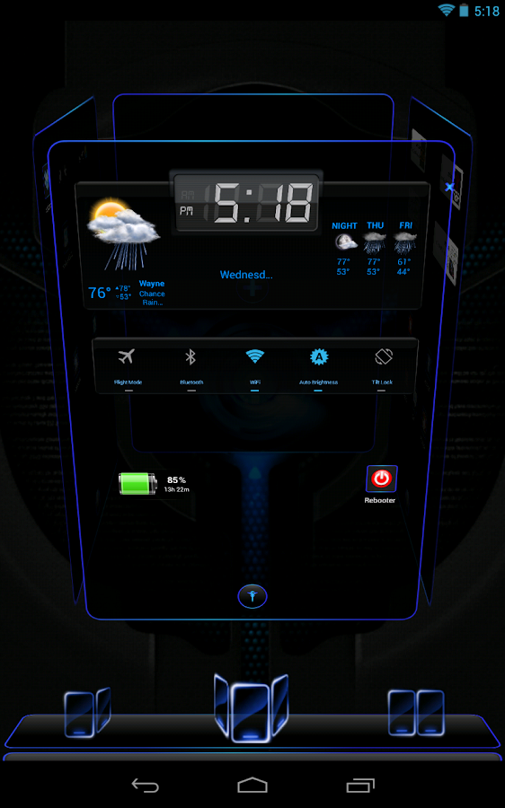 Next Launcher 3D Black n Black- screenshot