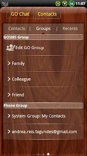 Mahogany Wood GO SMS Theme- screenshot thumbnail