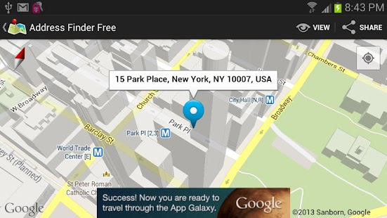 Address finder free uses the latest version of google maps quicker