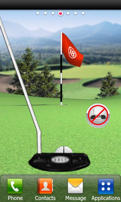Golf Putting Live Wallpaper - screenshot