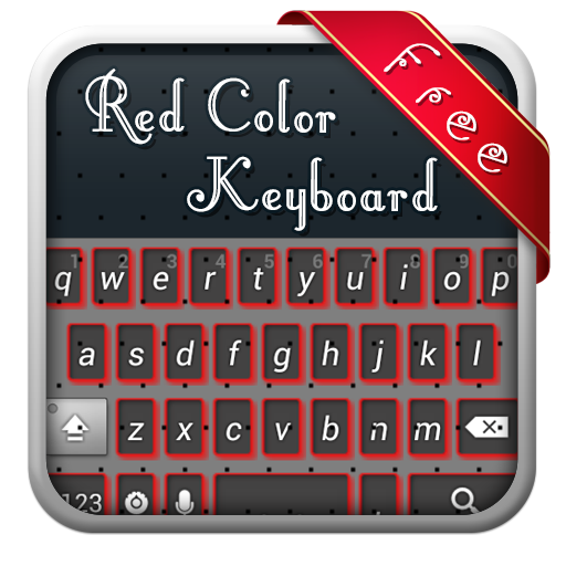 紅色主題鍵盤 LOGO-APP點子