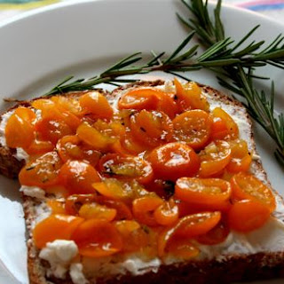 Toast with Kumquat Marmalade and Goat Cheese.
