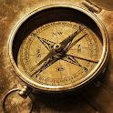 Compass azimuth measurement. icon