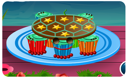 Cooking Games Turtle Cupcakes