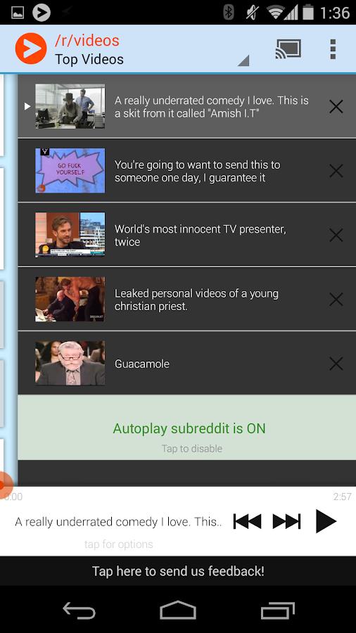Viddit for Chromecast (Reddit) - screenshot