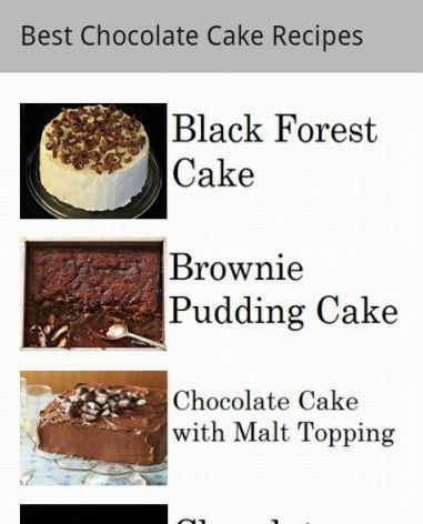 Tasty Chocolate Cake Recipes