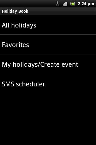 Holiday Book- screenshot