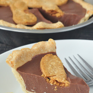 Chocolate Peanut Butter Truffle Pie