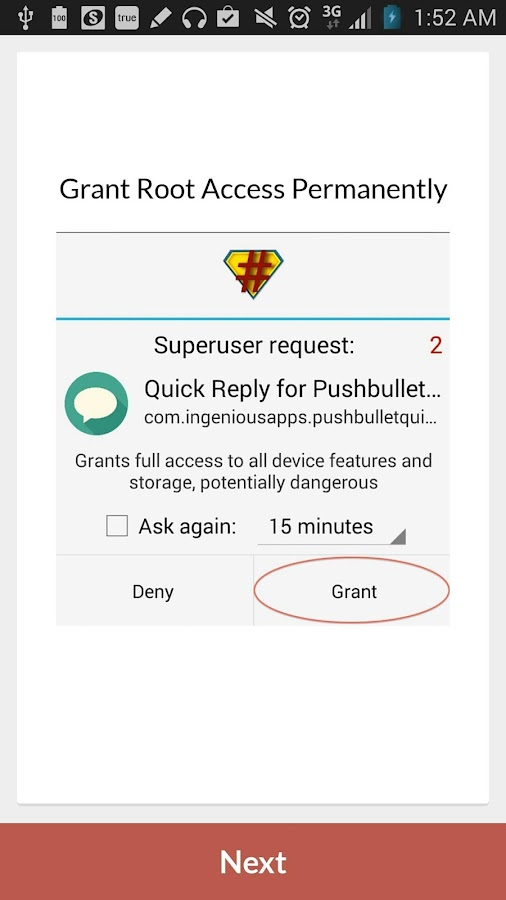 Quick Reply for Pushbullet- screenshot