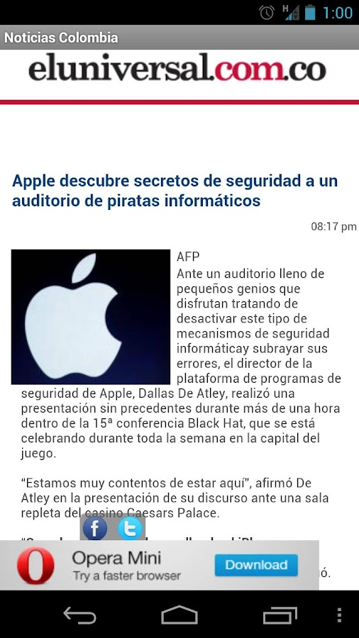 Colombian News- screenshot