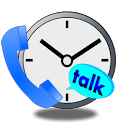 Notification of talk time icon
